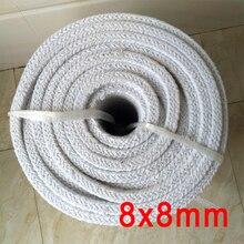 8mm x 8mm fibra di allumina silicato di guarnizione in fibra ceramica forno guarnizione della porta guarnizione della porta fuoco alluminosilicato ripieno di tenuta
