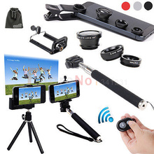 7 in 1 Phone Bluetooth Camera Control+Gopro Monopod / Tripod stand with cellphone holder +Lens