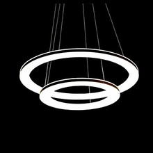 Fashion Modern Ring Shape Acrylic Droplight LED Pendant Light Fixtures For Living Dining Room Hanging Lamp Indoor Lighting