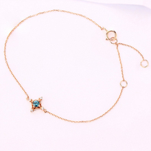 ANI 14K Yellow/Rose Gold Women Bracelet Fine Jewelry Natural Topaz or Black Onyx Fashion Design for Romantic Birthday Gift