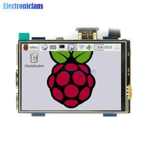 Image 3 - 3.5 inç fiziksel çözünürlük 480x320 LCD ekran modülü LCD HDMI USB dokunmatik ekran gerçek HD 1920x1080 ahududu 3 Model B