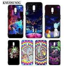 Silicone Case For OnePlus 5T 6 6T Printing Pattern Black Soft Phone Cover Rick and morty Fashion Style
