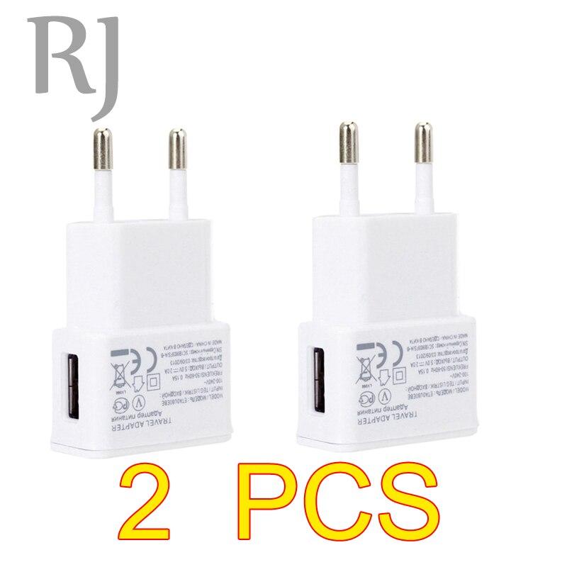 2PCS/lot Travel Wall USB <font><b>Charger</b></font> 5V 2A Adapter For Samsung <font><b>galaxy</b></font> <font><b>S5</b></font> S4 S6 note 3 2 EU Plug <font><b>Charger</b></font> For iphone 7 6 5 4