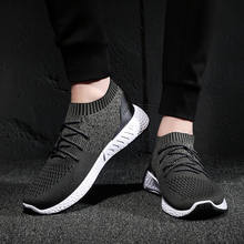 MoneRffi Knitting Men Vulcanize Shoes Sneakers Breathable Casual 2019 Male Air Mesh Lace Up Shoes Tenis Spring Adult Trainer(China)