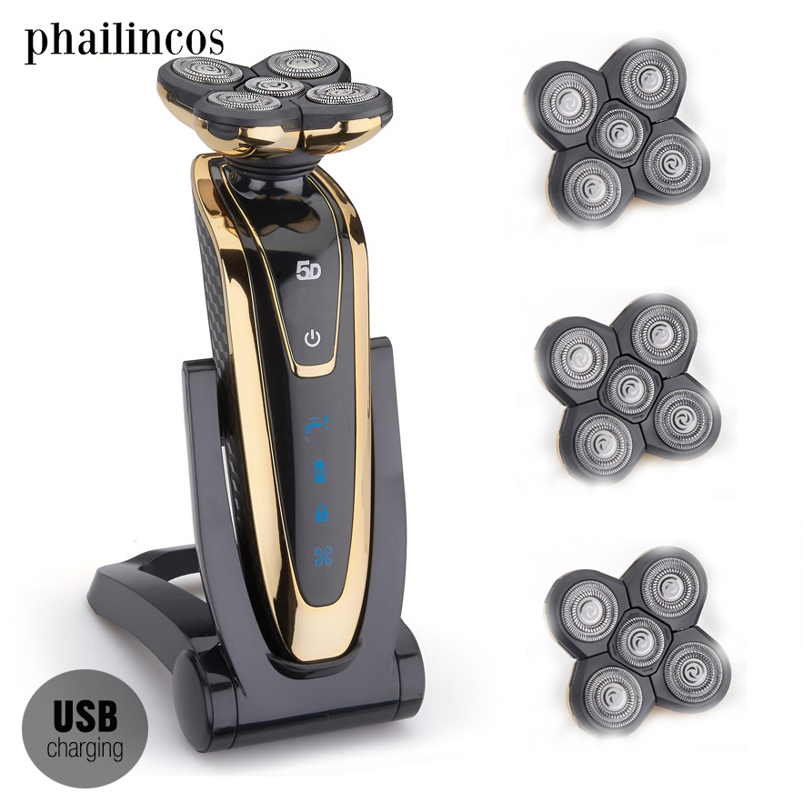 Washable 5D Shavers For Men Electric Shaver Razor Rechargeable Men's Shaving Machine Waterproof Beard Shaver USB Charging casio mtp e145d 1a