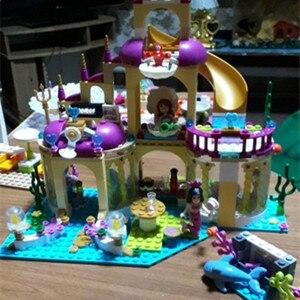 Image 5 - 新着プリンセスアリエルの宮殿の海マーメイド Compatibie Legoings ビルディングブロックのおもちゃキット Diy の教育ギフト