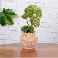 1 Zestaw Sztuczne Rośliny Zielone Trawy Fałszywe Wazony Kwiatowe Żywicy Z Tworzywa Sztucznego Jedwabiu lichen Striatus Bryophyte