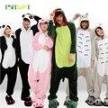 2016 Зима Пижамы наборы Женщины pijama unicornio Panda стежка unicornio onesies для взрослых Животных Пижамы Мультфильм Косплей пижамы