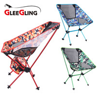 Camouflage Outdoor Folding Chair Camping Hiking Seat Ultralight Fishing Chair Picnic Beach chair with Backpack mini klappstuhl