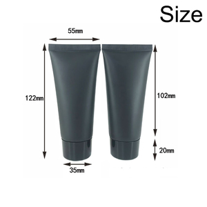Image 2 - 60ml Frost Black Plastic Cream Squeeze Bottle 60g Cosmetic Facial Cleanser Soft Tube Shampoo Lotion pack Bottles Free Shipping