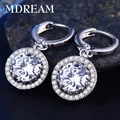 2016 wholesale sliver Plated Earrings CZ diamond Wedding Jewelry AAA zircon fashion earrings Engagement for women LSE021