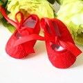 Китайский Стиль Милый Ребенок Обувь для Девочек Новорожденных 1 Год 2017 Детская Обувь Новорожденных Autmnu Первые Ходунки Для Девочки