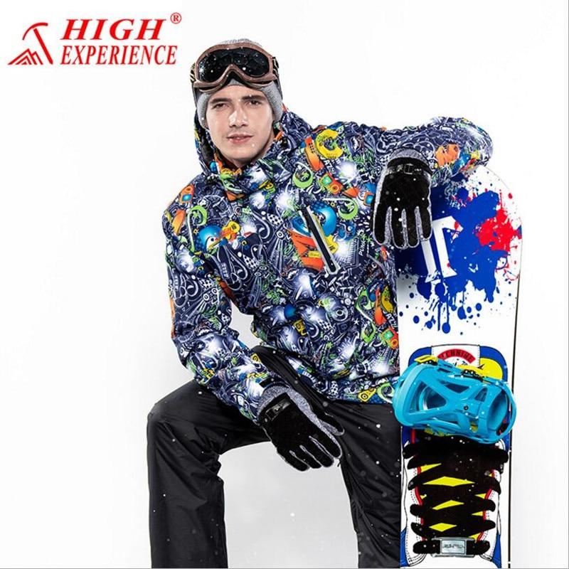 Prix pour 2017 Hommes Ski Veste Coupe-Vent Imperméable À L'eau En Plein Air Sport Porter Super Chaud Mâle Vêtements Ski Snowboard Equitation Thermique Manteau