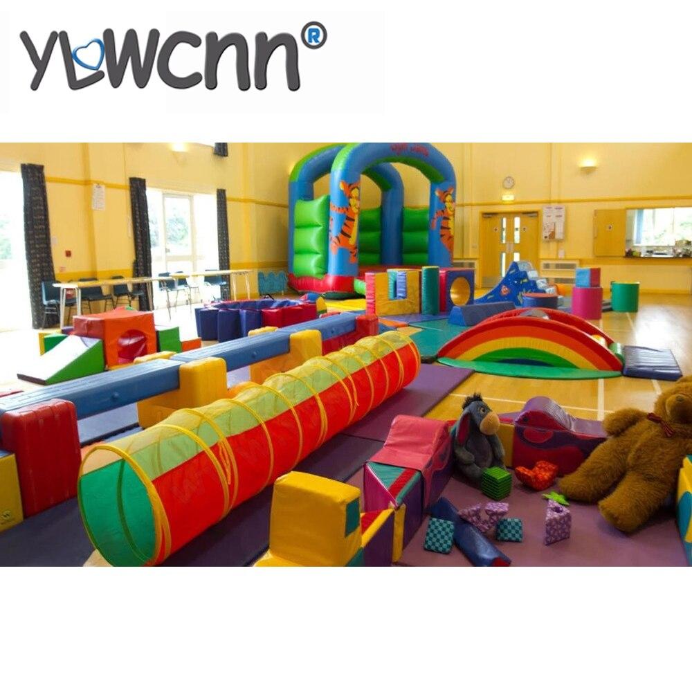 Meubles de jeu doux pour les enfants, centre de jeu doux d'intérieur de bébé tout le parc INA171071