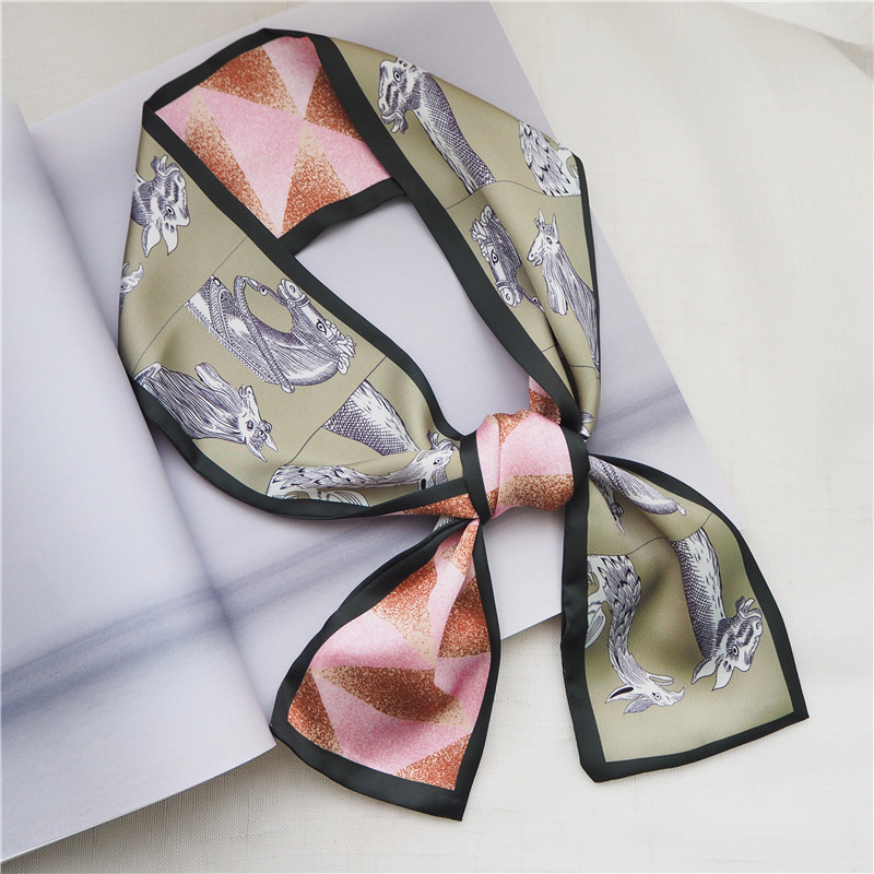 2019 Spring Summer New Thin Narrow Skinny Scarf Multi-functional Fashion Ladies Small Scarf Headscarf For Bag Handle Scarves