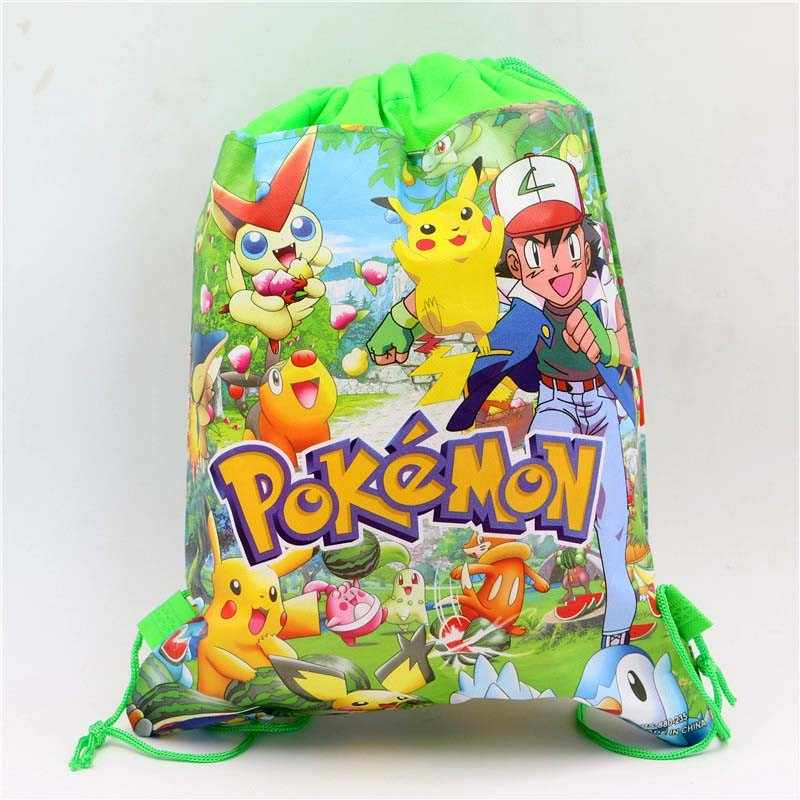 0bf9b361371b Detail Feedback Questions about Non Woven Birthday Drawstring Bags Party  Pokemon go Decoration Baby Shower Supplies Kids Favors Cartoon Fabric  Backpack Gift ...