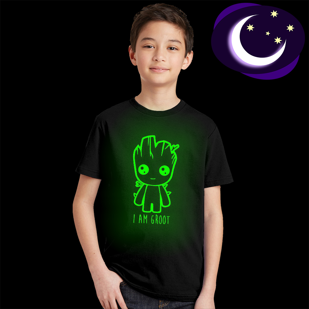Drop Shipping Baby Groot Kids T Shirt Glow In Dark Baby Groot Child T-shirt Guardians of The Galaxy 2 Boys Girls Summer ClothesDrop Shipping Baby Groot Kids T Shirt Glow In Dark Baby Groot Child T-shirt Guardians of The Galaxy 2 Boys Girls Summer Clothes