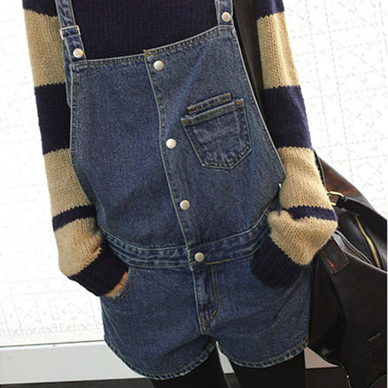 2020 Summer Denim Rompers Womens Jumpsuit Shorts women Bib Denim Ripped Jeans romper Jeans Overalls For Women shorts