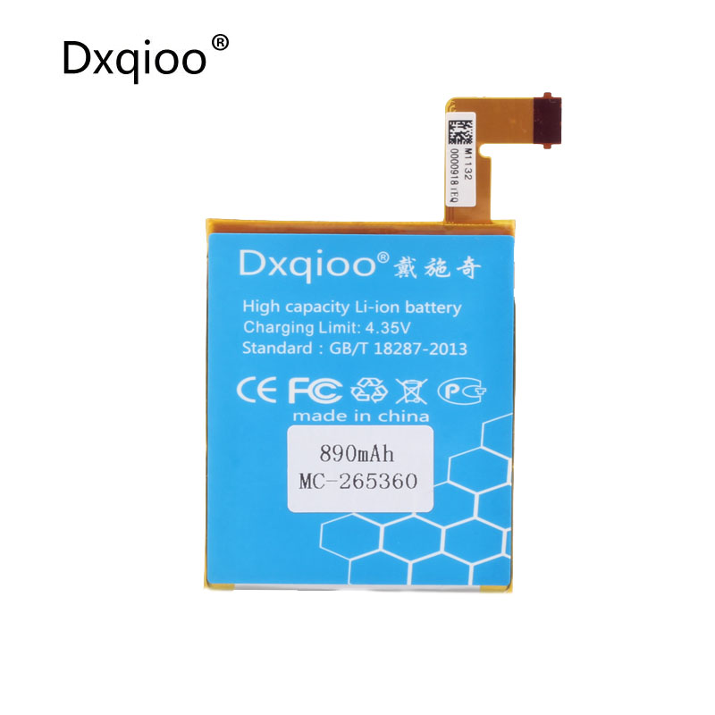 Dxqioo AAAAA+ battery fit for amazon kindle 4 5 6 MC-265360 <font><b>D01100</b></font> S2011-001-S DR-A015 batteries image