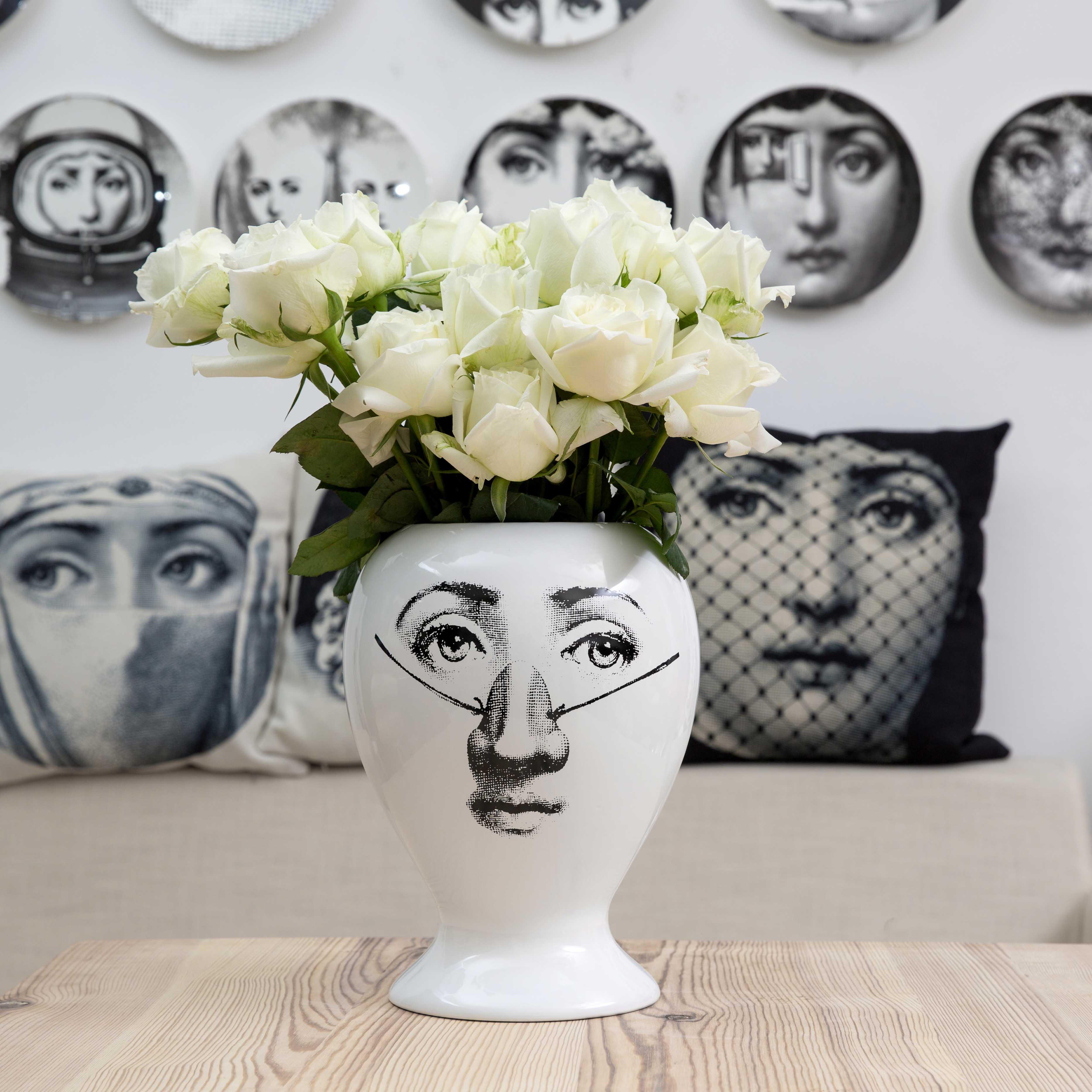 2018 New Creative Design Pattern Italy Milan Rosenthal Piero Fornasetti Vase  Living Room Decorated Vase Porcelain Vase-in Vases from Home & Garden on ...