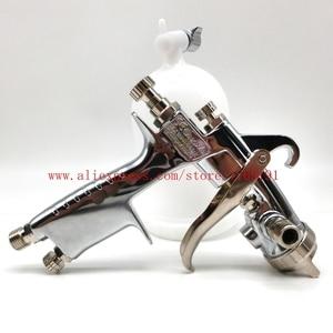 Image 5 - Janpan W 101 תרסיס אקדח w101 HVLP ידני צבע אקדח הכבידה סוג 0.8/1.0/1.3/1.5/1.8mm 134G 400ml ריהוט רכב ציפוי ציור