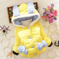 BibiCola Children parkas Rabbit Cartoon Outwear Child Girls Winter Wear Thickening Outerwear Coat Kids Cotton-padded Jacket
