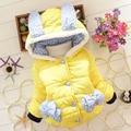 BibiCola Niños parkas Outwear Niño de Conejo de Dibujos Animados Niñas Ropa de Invierno Engrosamiento Ropa de Abrigo Abrigo Niños Chaqueta de Algodón acolchado