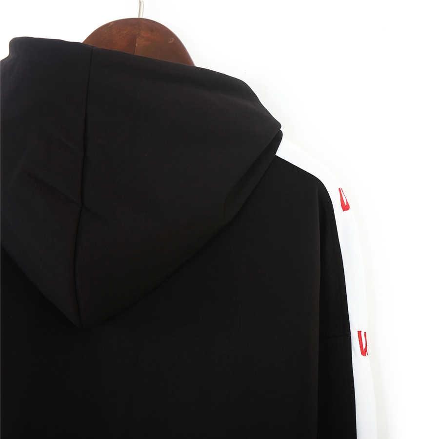 المرأة البلوز هوديي الإناث بلوزات السترة المتناثرة رياضية هوديس للنساء عارضة أسود رمادي هودي Bts تووشبد
