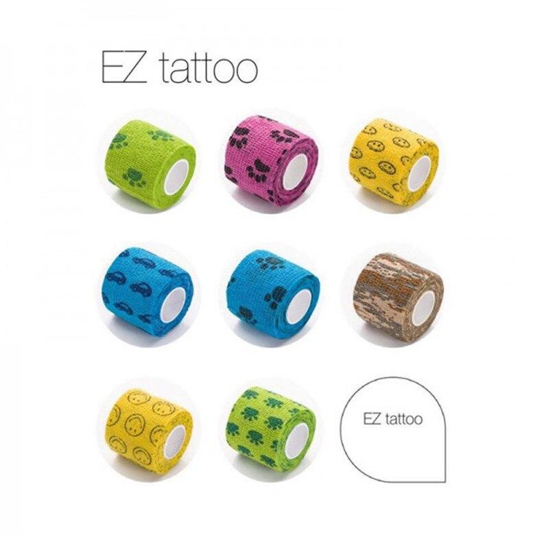 "12 Pcs/box EZ Cohesive Bandages 2""x 5 Yard Colorful Tattoo Grips Bandage 8 Colors Tattoo Supply Accessories"