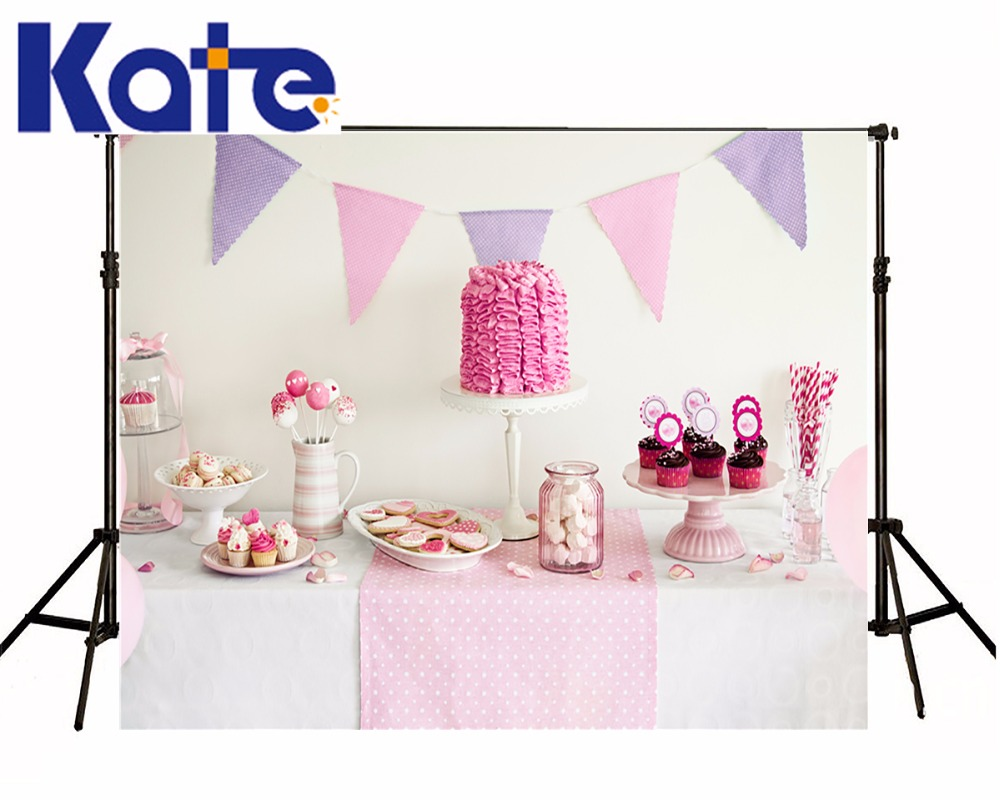 KATE Photo Background Newborn Birthday Photography Background Lollipop and Cake Table Backdrop for Children Photo Shoot kate dry land photography backdrops land photography background retro children custom backdrop props for newborn photo shoot