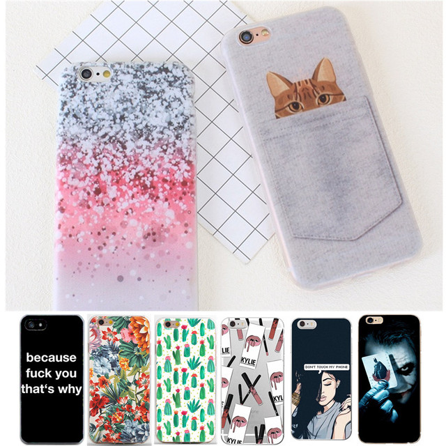 sFor iPhone 7 Case iPhone 6 Case Silicone Cartoon TPU Soft Phone Shell Cover Case For iPhone 6S 7 8 Plus X 10 5 5S Coque