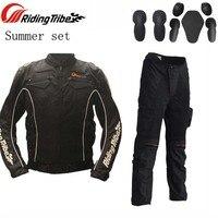 Летом езда племя JK08 HP02 moto rcycle куртки, штаны комплект и бронежилет, сетчатая Ткань moto крест брюки и колена M, L, XL, XXL, XXXL