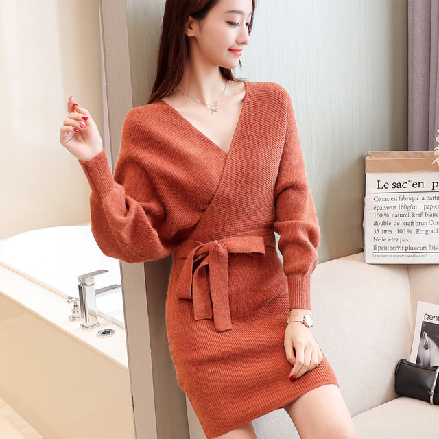ce5987562 In the women temperament sweater dress of new fund of 2017 autumn ...