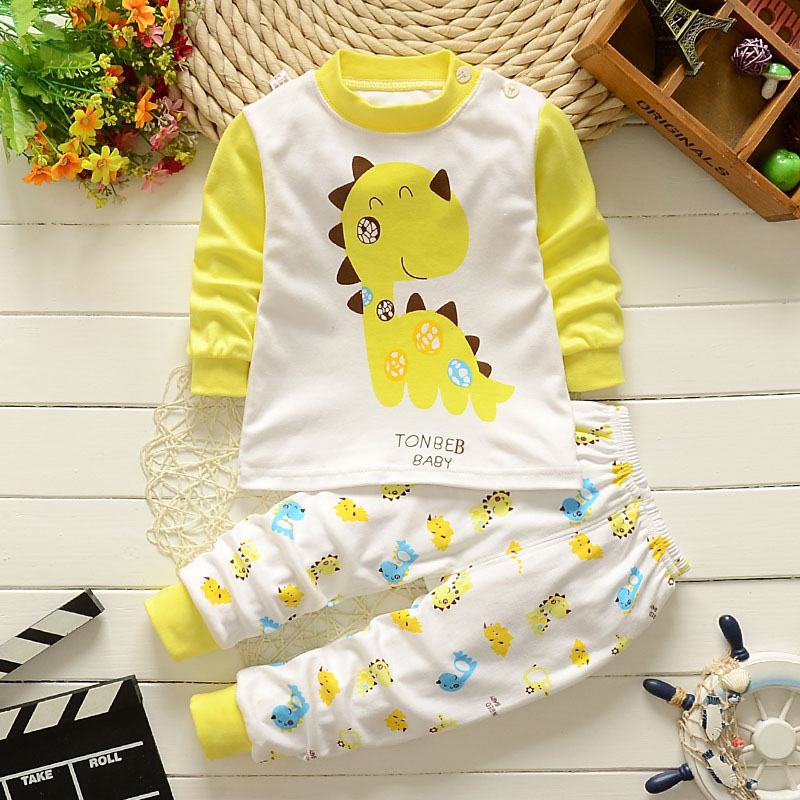 Autumn/Spring Baby Clothes Sets Cotton Animals Newborn Boys Girls Long Sleeve T-shirt+Pants Infant Clothing Outfit Set CL2075 baby clothing newborn baby rompers jumpsuits cotton infant long sleeve jumpsuit boys girls spring autumn wear romper clothes set