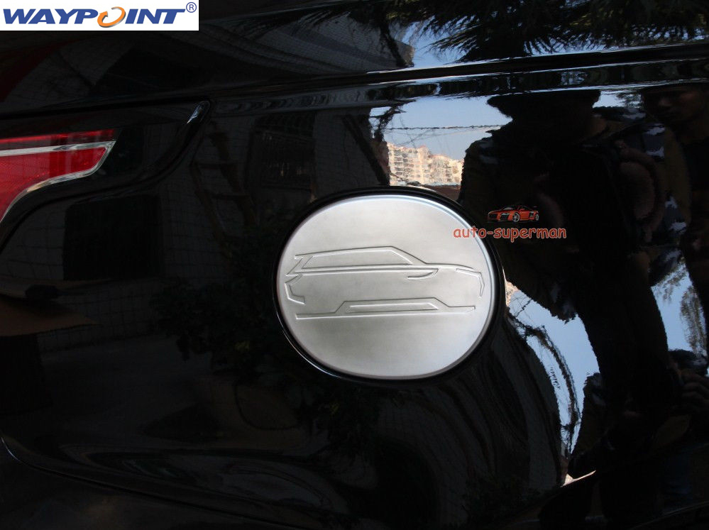 Chrome fuel Door gas cover Tank cap trim FOR Land Range rover sport 2015 2016 2017 image