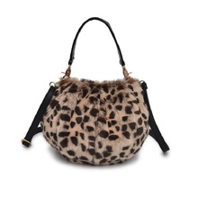 Leopard Women Handbag Fashion Bucket Female Shoulder Bags New Design Faux  Rabbit Fur Lady Purses Cross f13ff6ac31f27