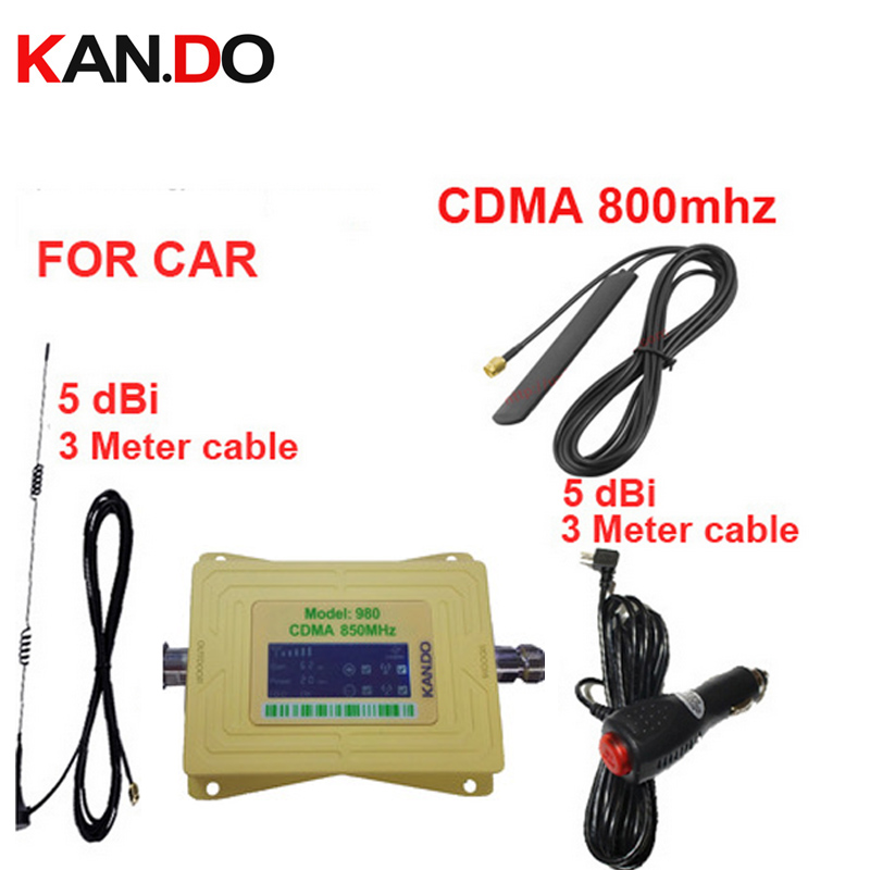 USA use car use booster CDMA 850Mhz phone signal booster for car,LCD display CDMA 850mhz signal repeater CDMA booster