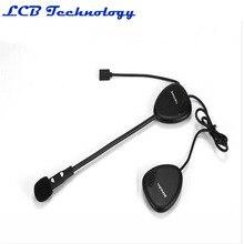 4PC/LOT Wireless Bluetooth Interphone Motorcycle helmet walkie talkie with bluetooth headset - V1-2