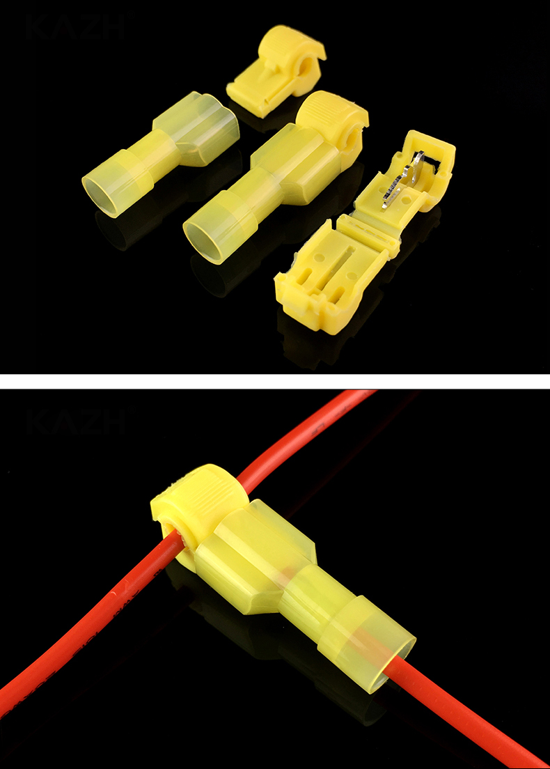 Male with Insulated Cover 30sets Bullet Connectors 1 to 2 Cable Splitter Female