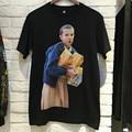 2017 TOPS NIEBLA TEMOR DE DIOS Justin Bieber innomuhnit PARÍS VETEMENTS character printing hombres camiseta KANYE WEST Hiphop Ocasional Tee