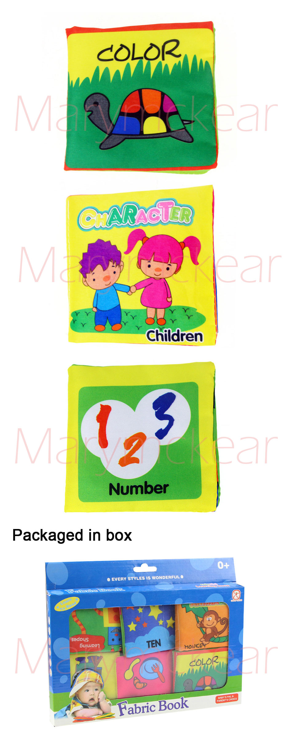 6pcs/ set Baby Learn Colors Numbers Food Shape Cartoon Design Baby ...