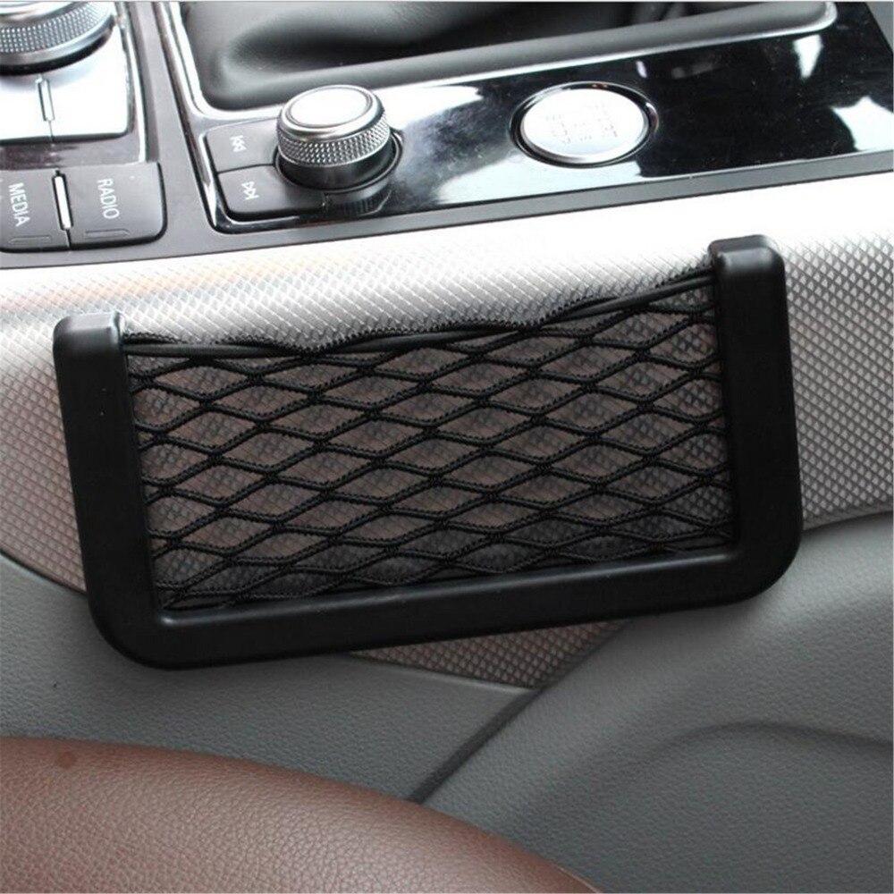 Универсальный Большой 15*8 см Черный Автокресло сбоку Чистая сумка для хранения карман для Audi Q3 Q5 SQ5 Q7 a1 A3 A4 A4L A5 A6 A6L A7 A8 S5 S6 S7 TT