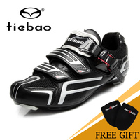 2017 NEW Fashion Tiebao With Fast Cycling Shoes Magic Tape Fastener Road Bike Shoes High Quality