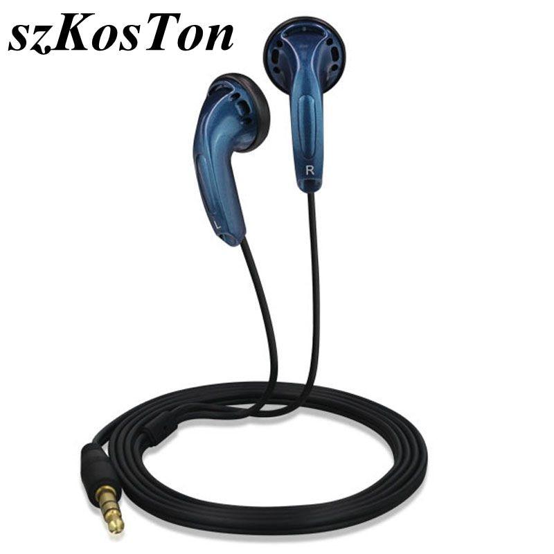 3.5mm In Ear Earphones Flat Head Plug Sports Earphone Dynamic Bass Earbuds HIFI Headset For Xiaomi Huawei Xiomi Samsung IPhone