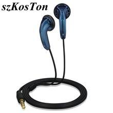 3.5mm dans loreille écouteurs tête plate prise sport écouteur dynamique basse écouteurs HIFI casque pour Xiaomi Huawei Xiomi Samsung iPhone
