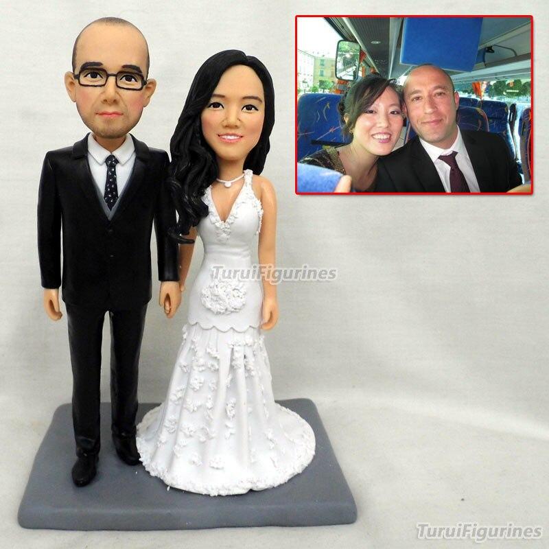 Новогоднее украшение День рождения Свадебные украшения Замороженные вечерние Фавор принадлежности свадебный торт Топпер пара кукла стату