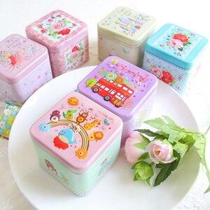 Exquisite 3D Cartoon Tin Box Biscuit/Tea Sundries Container Case Metal Customizable Storage Boxes Child Gift Box Square