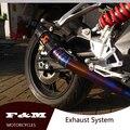 Fibra de carbono motocicleta silenciador de escape conjunto completo de escape de la motocicleta BG600 BN600 600GS