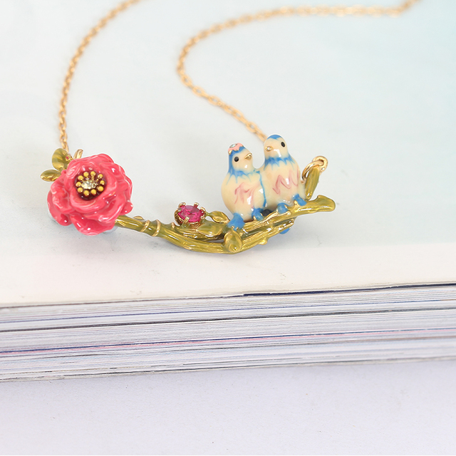New Arrivals Three dimensional Love Bird Blue Tit Birdie Red Rose