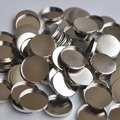 1lot= 100pcs Empty Round Tin Pans Pot for DIY Eyeshadow Blue 26mm Diameter Responsive to Magnets
